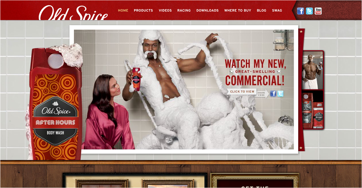 old spice youtube campaign case study The campaign the old spice swagger campaign featured traditional print and television executions (which also made their way onto youtube), as well as a hugely successful online campaign at.